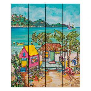 Decorative Wood Plank Wall Art | Patti Schermerhorn - Salty Kisses Beach 2 | coast summer ocean