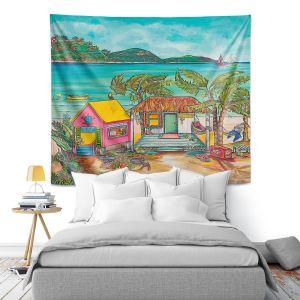 Artistic Wall Tapestry | Patti Schermerhorn - Salty Kisses Beach 2 | coast summer ocean