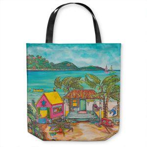 Unique Shoulder Bag Tote Bags | Patti Schermerhorn - Salty Kisses Beach 2 | coast summer ocean