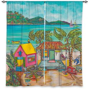 Decorative Window Treatments | Patti Schermerhorn - Salty Kisses Beach 2 | coast summer ocean