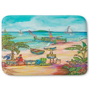 Decorative Bathroom Mats | Patti Schermerhorn - Salty Kisses Beach 3 | coast summer ocean