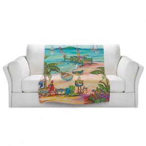 Artistic Sherpa Pile Blankets | Patti Schermerhorn - Salty Kisses Beach 3 | coast summer ocean