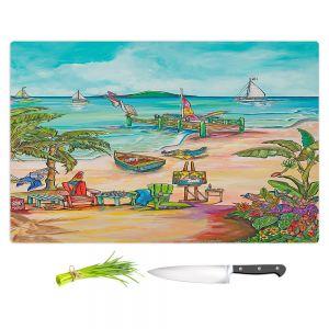 Artistic Kitchen Bar Cutting Boards | Patti Schermerhorn - Salty Kisses Beach 3 | coast summer ocean