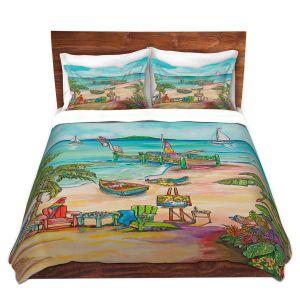 Artistic Duvet Covers and Shams Bedding   Patti Schermerhorn - Salty Kisses Beach 3   coast summer ocean