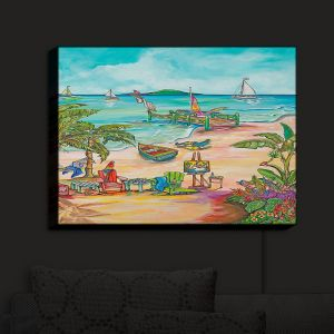 Nightlight Sconce Canvas Light | Patti Schermerhorn - Salty Kisses Beach 3 | coast summer ocean