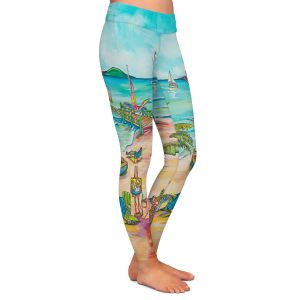 Casual Comfortable Leggings | Patti Schermerhorn - Salty Kisses Beach 3 | coast summer ocean