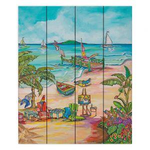 Decorative Wood Plank Wall Art | Patti Schermerhorn - Salty Kisses Beach 3 | coast summer ocean