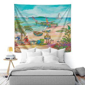 Artistic Wall Tapestry | Patti Schermerhorn - Salty Kisses Beach 3 | coast summer ocean