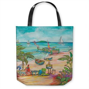 Unique Shoulder Bag Tote Bags | Patti Schermerhorn - Salty Kisses Beach 3 | coast summer ocean