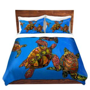 Artistic Duvet Covers and Shams Bedding | Patti Schermerhorn - Sarrahs Sea Turtles