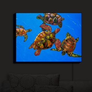 Nightlight Sconce Canvas Light | Patti Schermerhorn's Sarrahs Sea Turtles
