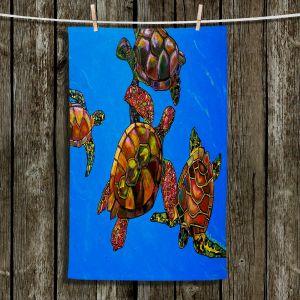 Unique Hanging Tea Towels | Patti Schermerhorn - Sarrahs Sea Turtles | Ocean Sealife