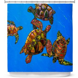 Premium Shower Curtains | Patti Schermerhorn Sarrahs Sea Turtles