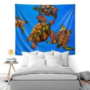 Artistic Wall Tapestry | Patti Schermerhorn Sarrahs Sea Turtles