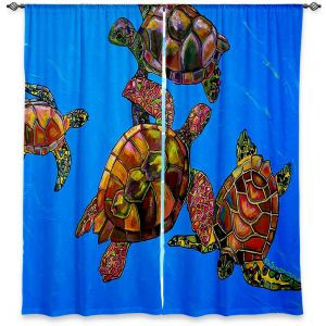 Decorative Window Treatments | Patti Schermerhorn Sarrahs Sea Turtles