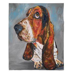 Decorative Fleece Throw Blankets   Patti Schermerhorn - Say What Bassett Hound   Animals Dogs