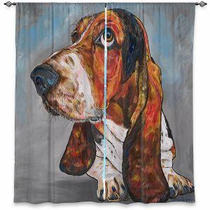 Decorative Window Treatments   Patti Schermerhorn - Say What Bassett Hound   Animals Dogs
