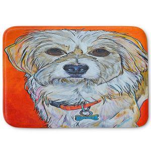 Decorative Bathroom Mats | Patti Schermerhorn - Schatzi Dog | puppy creature portrait