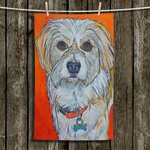 Unique Hanging Tea Towels | Patti Schermerhorn - Schatzi Dog | puppy creature portrait