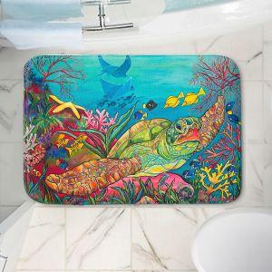 Decorative Bathroom Mats   Patti Schermerhorn - Sea Turtle Coral   Animals Turtles Ocean