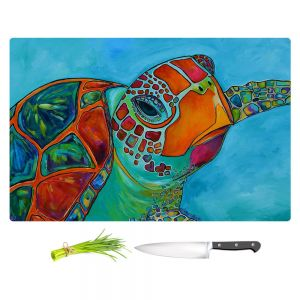 Artistic Kitchen Bar Cutting Boards | Patti Schermerhorn - Seaglass Sea Turtle