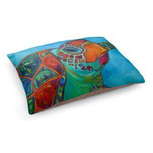 Decorative Dog Pet Beds | Patti Schermerhorn's Seaglass Sea Turtle
