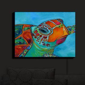 Nightlight Sconce Canvas Light | Patti Schermerhorn's Seaglass Sea Turtle