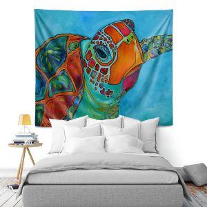 Artistic Wall Tapestry | Patti Schermerhorn Seaglass Sea Turtle