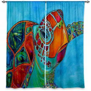 Decorative Window Treatments | Patti Schermerhorn Seaglass Sea Turtle