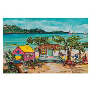 Decorative Floor Coverings | Patti Schermerhorn - Star Fish Wishes | Beach House Ocean Boats Coast Mountains Beach Palm Trees