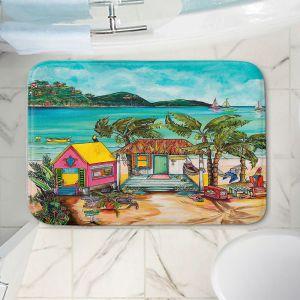 Decorative Bathroom Mats | Patti Schermerhorn - Star Fish Wishes | Beach House Ocean Boats Coast Mountains Beach Palm Trees