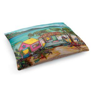 Decorative Dog Pet Beds | Patti Schermerhorn - Star Fish Wishes | Beach House Ocean Boats Coast Mountains Beach Palm Trees