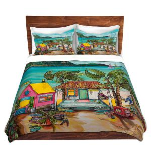 Artistic Duvet Covers and Shams Bedding | Patti Schermerhorn - Star Fish Wishes | Beach House Ocean Boats Coast Mountains Beach Palm Trees