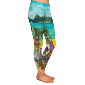 Casual Comfortable Leggings | Patti Schermerhorn - Star Fish Wishes | Beach House Ocean Boats Coast Mountains Beach Palm Trees