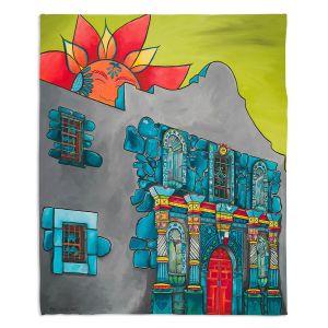 Decorative Fleece Throw Blankets | Patti Schermerhorn - The Alamo | History Buildings