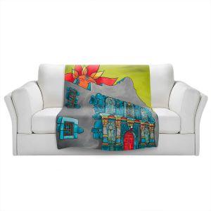 Artistic Sherpa Pile Blankets | Patti Schermerhorn - The Alamo | History Buildings