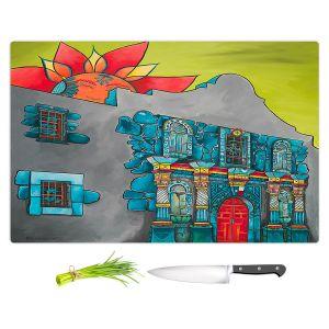 Artistic Kitchen Bar Cutting Boards | Patti Schermerhorn - The Alamo | History Buildings