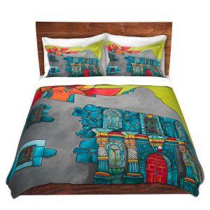 Artistic Duvet Covers and Shams Bedding | Patti Schermerhorn - The Alamo | History Buildings