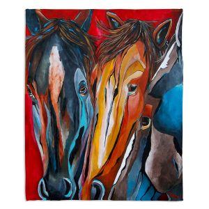 Decorative Fleece Throw Blankets | Patti Schermerhorn - Three Amigos