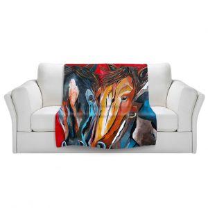 Artistic Sherpa Pile Blankets | Patti Schermerhorn Three Amigos