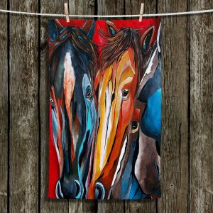 Unique Hanging Tea Towels | Patti Schermerhorn - Three Amigos | Horses Animals