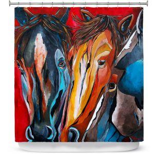 Premium Shower Curtains | Patti Schermerhorn Three Amigos