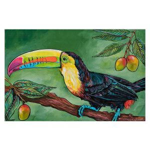 Decorative Floor Covering Mats | Patti Schermerhorn - Toucan Mango | Animals Birds Nature