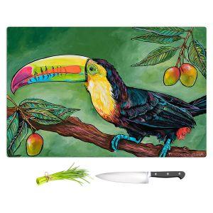 Artistic Kitchen Bar Cutting Boards | Patti Schermerhorn - Toucan Mango | Animals Birds Nature
