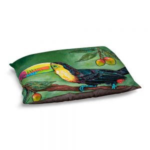 Decorative Dog Pet Beds | Patti Schermerhorn - Toucan Mango | Animals Birds Nature