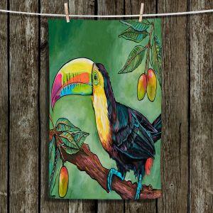 Unique Hanging Tea Towels | Patti Schermerhorn - Toucan Mango | Animals Birds Nature