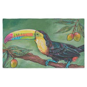 Artistic Pashmina Scarf | Patti Schermerhorn - Toucan Mango | Animals Birds Nature