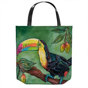 Unique Shoulder Bag Tote Bags | Patti Schermerhorn - Toucan Mango | Animals Birds Nature