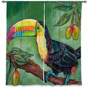 Decorative Window Treatments   Patti Schermerhorn - Toucan Mango   Animals Birds Nature