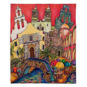 Artistic Sherpa Pile Blankets | Patti Schermerhorn - Tourist San Antonio | city map town state tourist